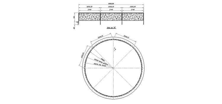 1.2 Balustrade for round and rectangular cavity with side connection