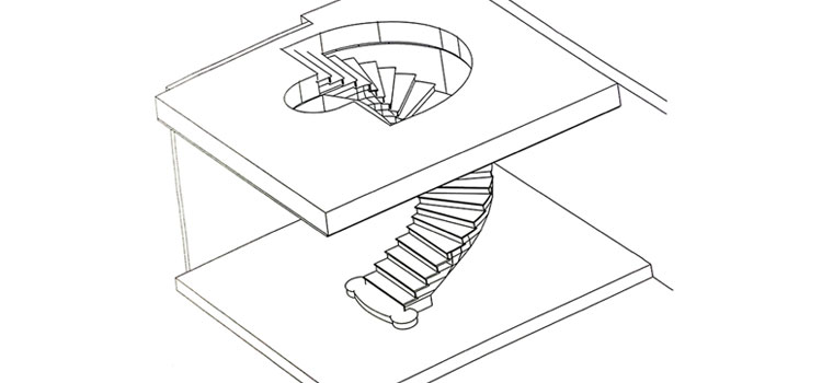 1.6 Curved staircase and balustrade